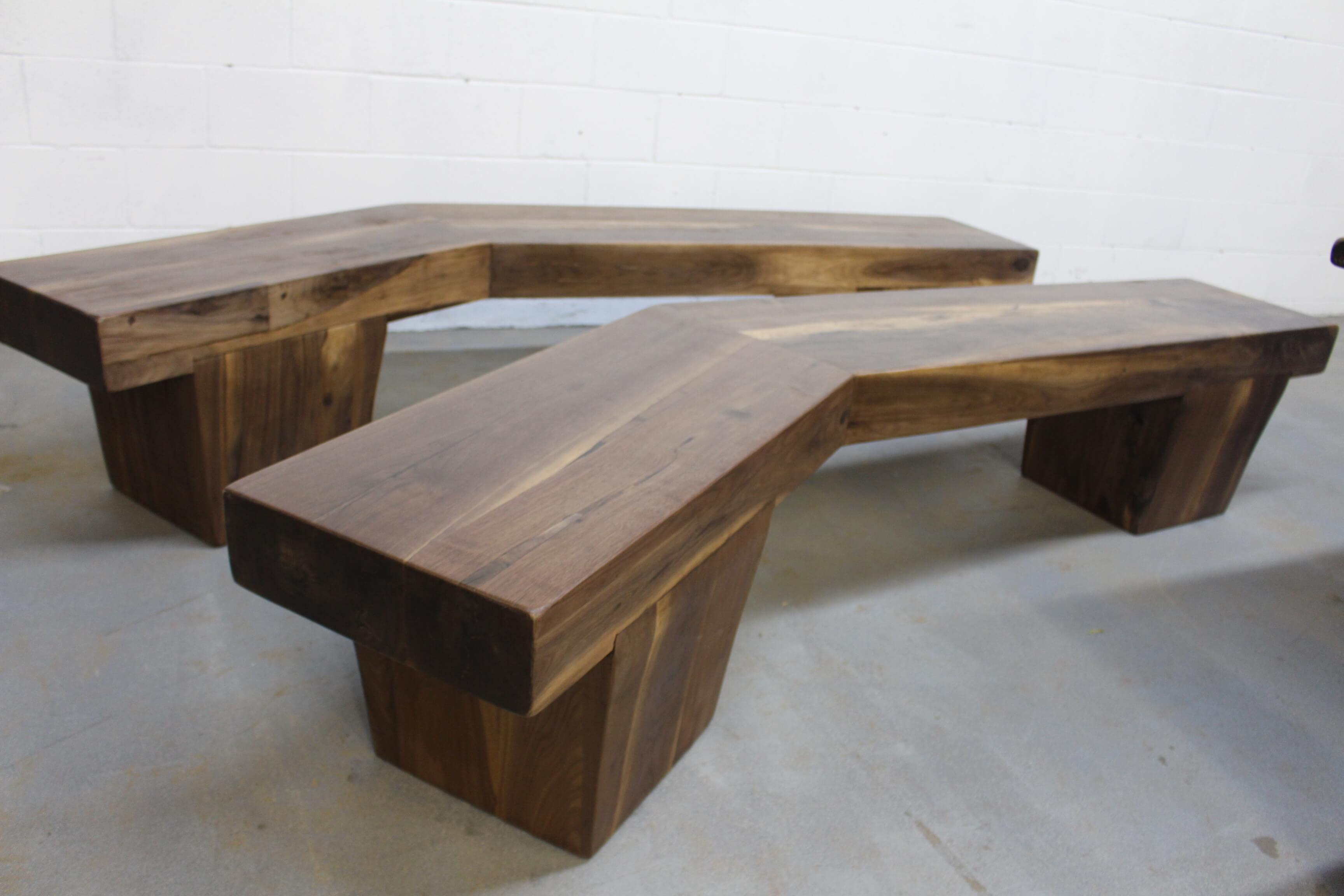 black walnut arrow bench