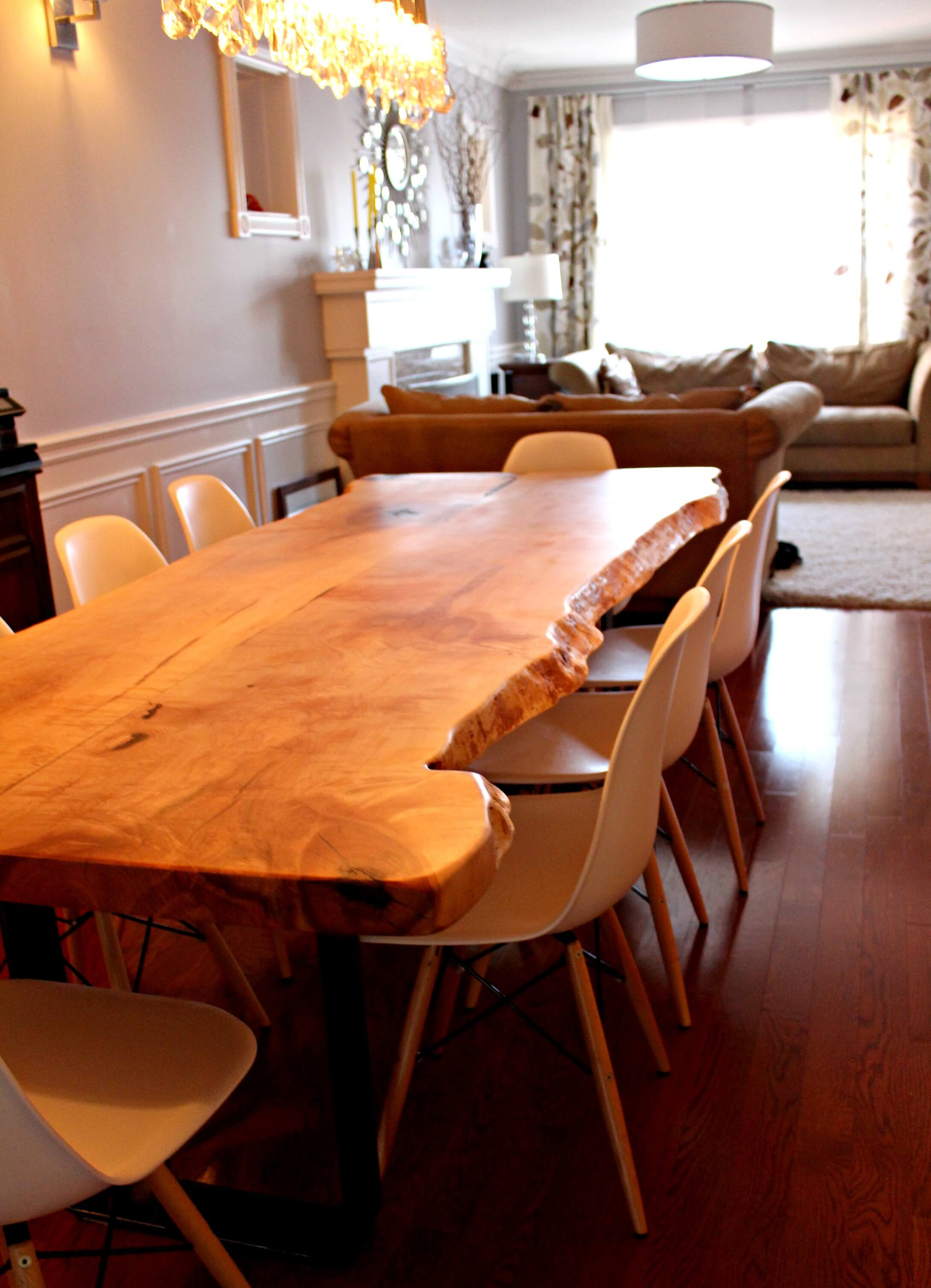 live edge maple table in toronto Living Wood Design Toronto & Muskoka Ontario Canada