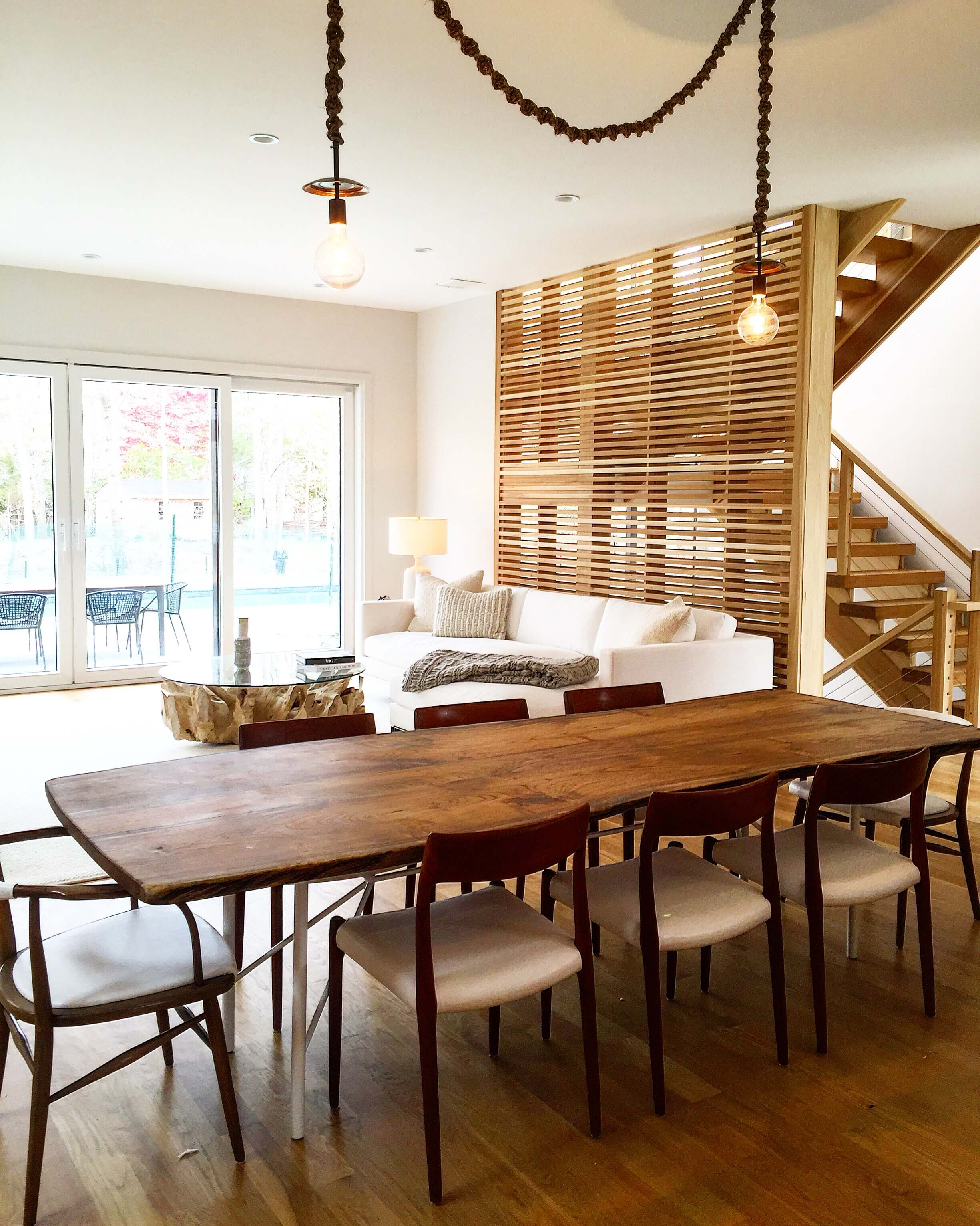 live edge walnut table for sag harbor designer allison babcock Living Wood Design Toronto & Muskoka Ontario Canada