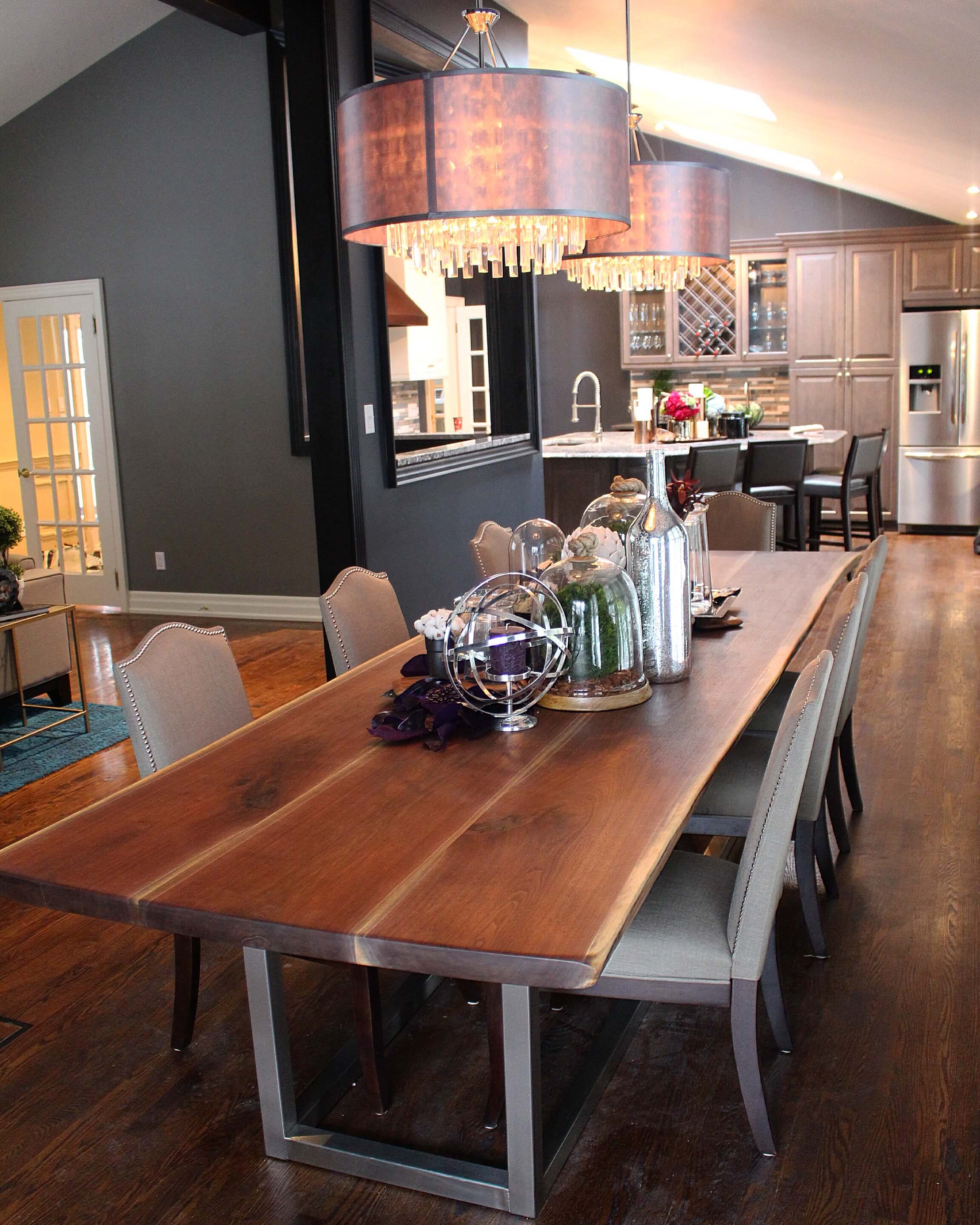 Walnut table on the Property Brothers