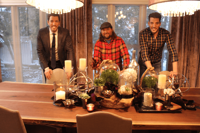 Property Brothers and our custom tables