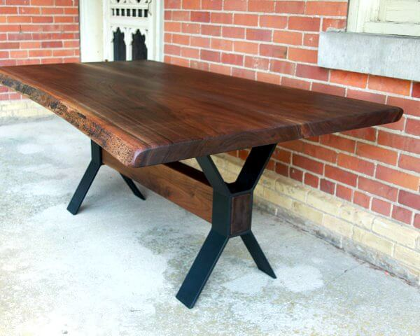 Live edge black walnut Muskoka table