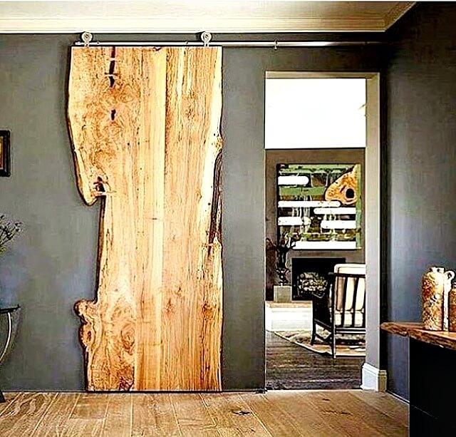 sliding live edge door