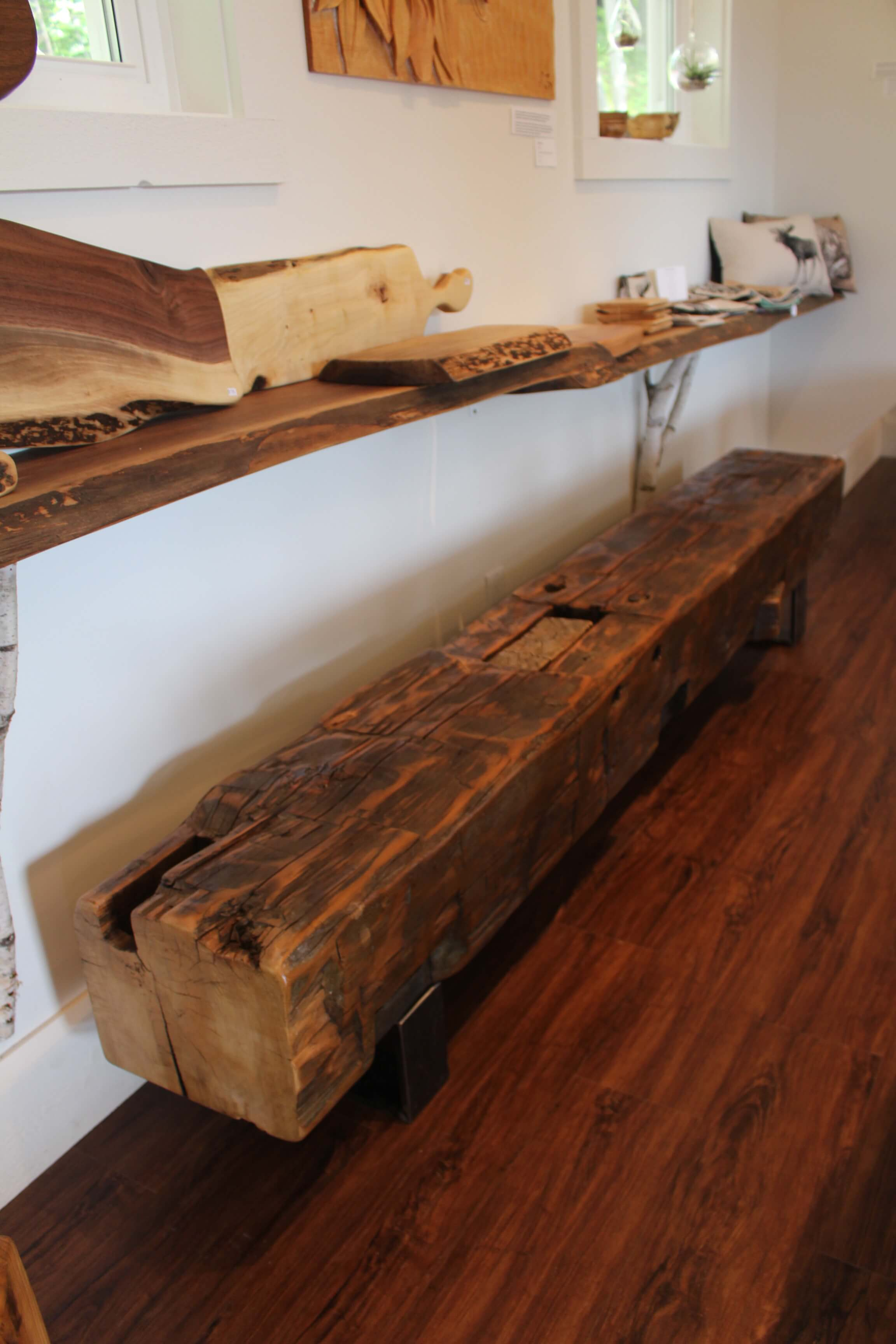 reclaimed century bench