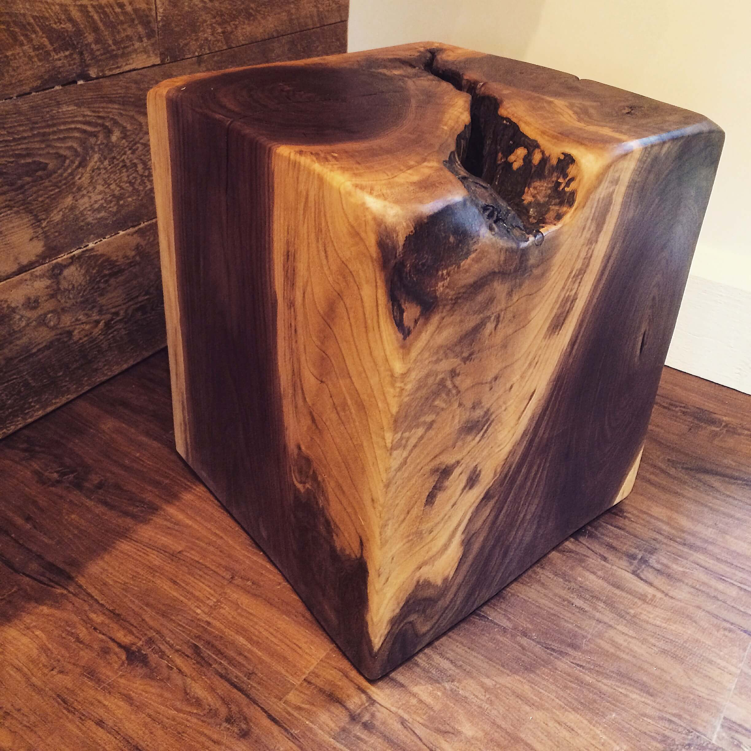 black walnut side table