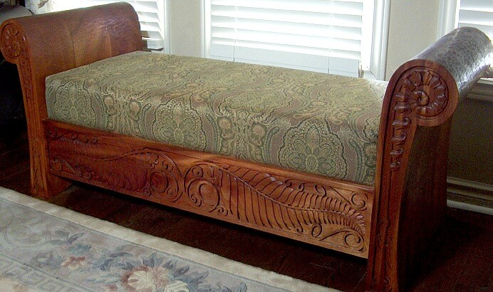 hand carved settee