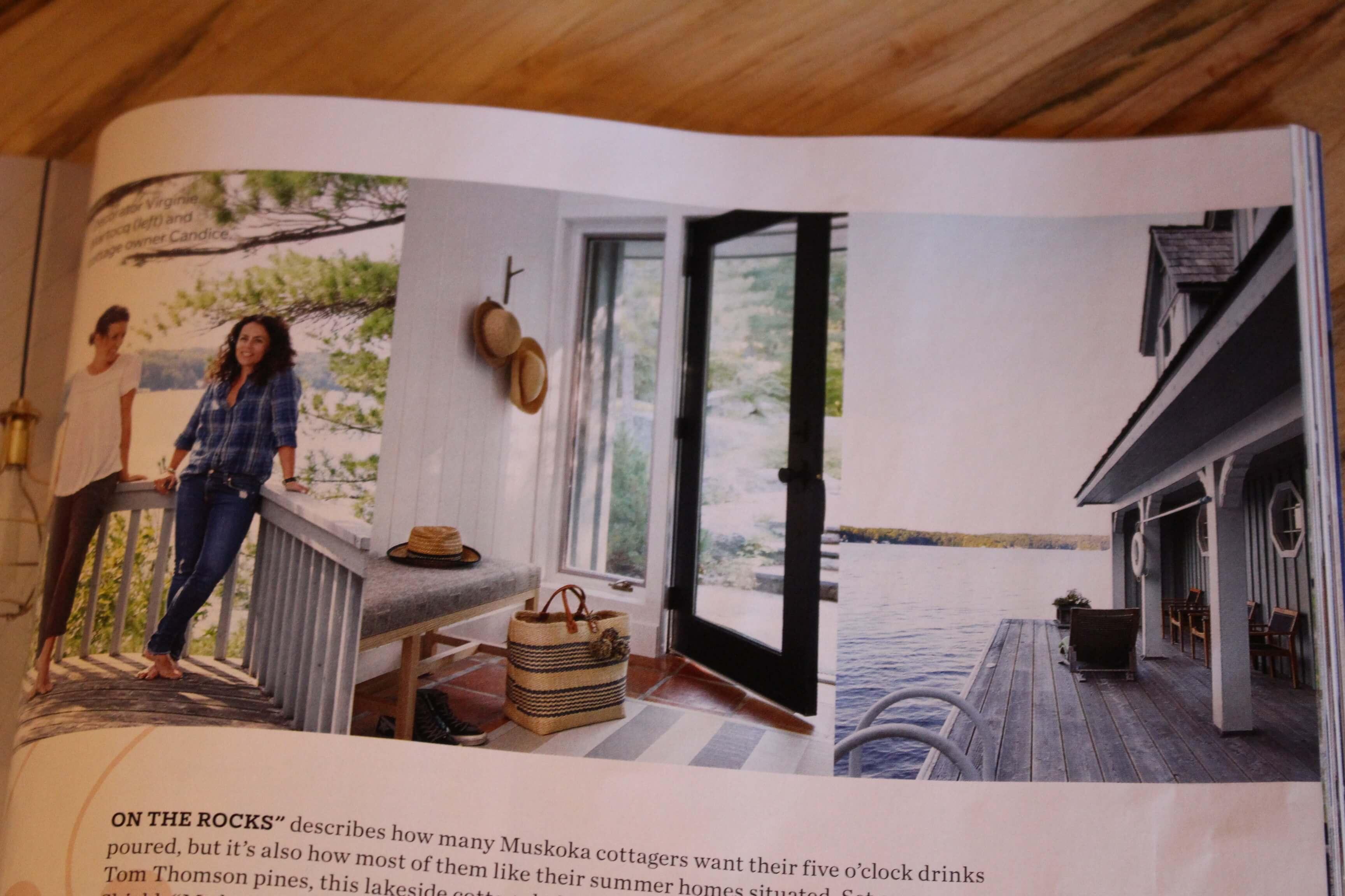 Live Edge Black Walnut Table Muskoka Cottage House And Home Magazine Living Wood Design Living